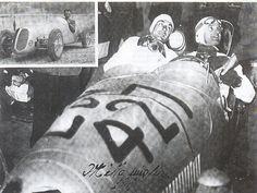 "Bandini e Cantelli alla partenza della ""Mille miglia"" (1949). Lorenzo Bandini, Race Cars, Ferrari, Classic Cars, Darth Vader, Racing, Fictional Characters, Cars Motorcycles, Drag Race Cars"