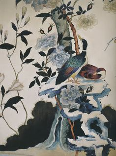 AESTHETICALLY THINKING - Hand-painted duck wallpaper