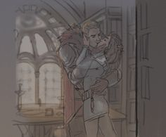 """princessvicky01: """" sanshodelaine: """" rough animation test. never animated a kissing scene before and i was curious, so here it is (reupload because the gif didn't work the first time) used my cullenxinquisitor sketches as reference """" Smooth Cullen -..."""