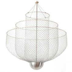 Meshmatics Chandelier by Rick Tegelaar now also available in size large -> http://www.wannekes.com/design-pendant-light-hanging-lamp-online-shop-modern-lighting/2018-meshmatics-chandelier-large-lighting-rick-tegelaar-lamps-chicken-wire.html.