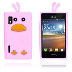And (Pink) LG Optimus L5 Cover