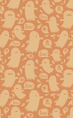 Halloween cell phone background - BOO!