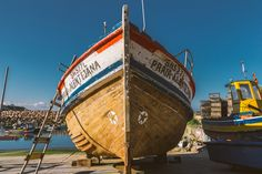 Portuguese fishing boat Fishing Boats, Portuguese, Seaside, Opera House, Fair Grounds, Building, Photography, Travel, Photograph