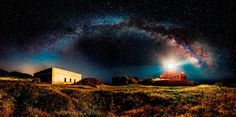 "Bored Panda Panoramic category: ""Starry Lighthouse"" by Ivan Pedretti, Italy, 2014 Sony World Photography Awards"