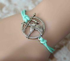personalized silver love bird bracelet/anklet charm bracelet mint green cotton wax cord bracelet birthday gift friendship bridesmaids gift on Etsy, $2.99