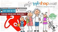 Weshop fokus pada layanan belanja dari seluruh dunia dengan sistem yang mudah, harga yang bersaing,Pengiriman International cepat dan aman gratis jasa kepabeanan dan gratis biaya pengiriman sampai ke alamat pembeli khusus daerah Jabodetabek.