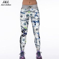 New Women/'s Chun Printed Polyester Design Fashion Jeggings One Size Fits Most
