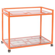 Orange Lacquer Bar Cart To Enjoy More Beautiful Hollywood Interior Design Inspirations To Repin & Share @ InStyle-Decor.com Beverly Hills Enjoy