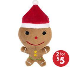 Gingerbread Man Plush  5 1/2in x 7 1/2in Plush Toy  SKU:699219