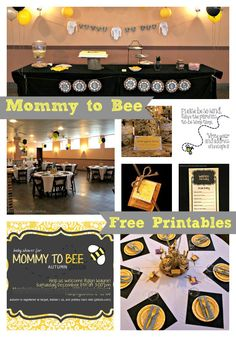 "Bonfires and Wine: ""Mommy to Bee"" Baby Shower"