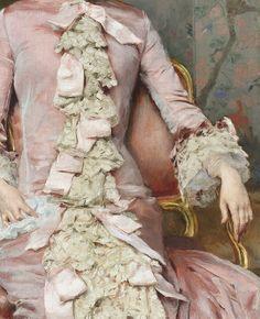 jaded-mandarin: Portrait of Eugenia Huici Arguedas de Errázuriz, 19th Century. Detail. #diy inspiration