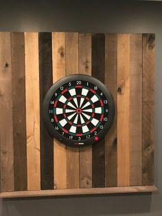 DIY Reclaimed Wood Dart Board Wall