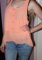 pomarańczowa bluzka h&m