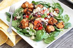Tandoori Chicken and Spinach Salad from Good Life Eats