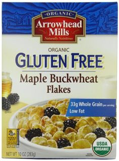 Arrowhead Mills Organic Gluten Free Maple Buckwheat Flakes Cereal  10 Ounce Boxes (Pack of 6) http://www.amazon.com/dp/B001EO5RCM/ref=cm_sw_r_pi_dp_pqLqtb13T1WFPSED