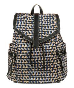 This Blue & Black Cubist Backpack is perfect! #zulilyfinds