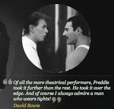 David Bowie on Freddie Mercury.