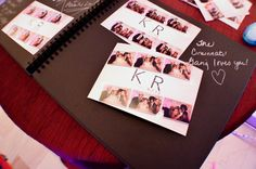 Photo guest books are a great memory keepsake for a wedding. Personalized notes written next to photobooth strips. Photo Guest Book, Guest Books, Great Memories, Photo Booth, Singing, Love You, Notes, Entertaining, Writing