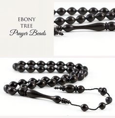 Ebony Tree Prayer Beads #prayerbeads #mala #worrybeads www.prayerbeadstore.com