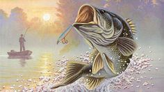 Sport For > Bass Fishing Painting
