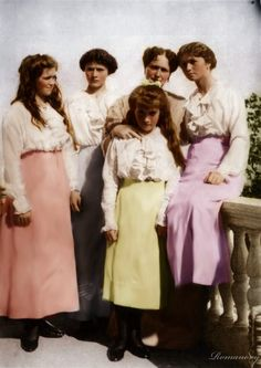The girls with their mother l wonder wjat was going on with Anastasia?