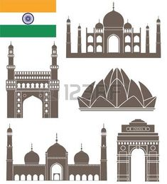 Places clipart india gate #15