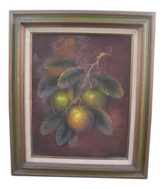 Still Life Oil Painting, Oil Painting On Canvas, Painting Frames, Tree Branches, Traditional Art, Vintage Decor, Neutral, Display, Limes