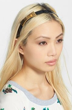kate spade new york 'metal bow' headband available at #Nordstrom