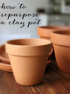 Use clay pots in a variety of unexpected ways when entertaining.