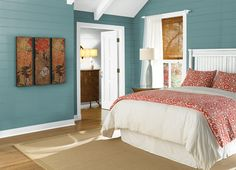 This is the project I created on Behr.com. I used these colors: TASMANIAN SEA(S440-5),