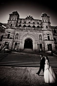 Wedding at Hatley Castle in Victoria, BC. Photo by IQ Photo. Amazing.