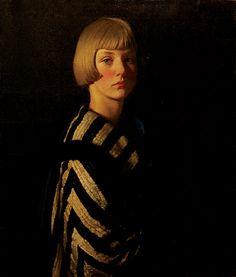 Louis Ginnett - Portrait of Mary, ca. 1925  (British 1875–1946)
