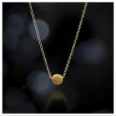 circle necklace, 18K gold - Dogeared