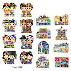 Gmarket - Korea tourist attractions fridge magnets 8pcs/Korea gi...