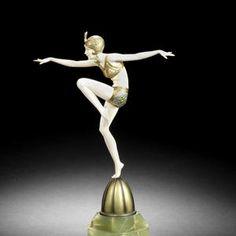 """Con Brio"" Art Deco Bronze & Ivory c1925.  Artist Ferdinand Preiss.  Sold for 24,000.00 pounds sterling."
