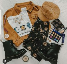 Hippie Outfits, Teen Fashion Outfits, Edgy Outfits, Mode Outfits, Cute Casual Outfits, Retro Outfits, Grunge Outfits, Vintage Outfits, Girl Outfits