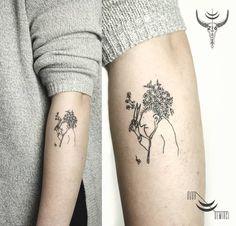 Wonderful Line Work Istanbul Tattoo Idea