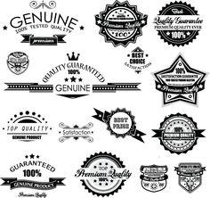 Black Sales Badge Label Vector Illustration | Lazy Drawing