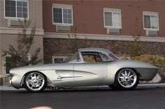 1962 CHEVROLET CORVETTE CUSTOM CONVERTIBLE - Side Profile - 116022