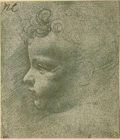 study of the head of a child in profile circa 1490