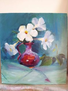 Red jug Oil painting