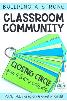 Tips and ideas for building a strong classroom community. Also, FREE closing circle question cards! Community Building Activities, Building Classroom Community, Kindergarten Activities, Classroom Activities, Bullying Activities, Preschool, Science Classroom, Classroom Ideas, Teacher Blogs