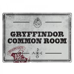 Harry Potter Small Tin Sign: Gryffindor Common Room