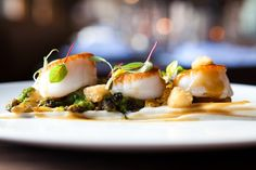 pistachio scallops | Scallop and Cauliflower with Pistachio and Tamarind Brown Butter ...