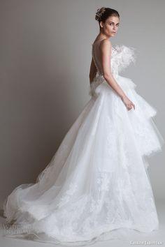 krikor jabotian wedding dresses 2014 sleeveless gown back train via Walking on Sunshine
