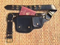 leather utility belt bag hip waist pouch purse fanny pack