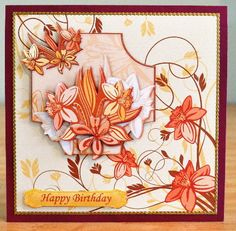 CONTEMPORARY DAFFODILS Card Topper Decoupage on Craftsuprint designed by Janet Briggs - made by Debbie Knechtel