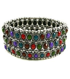 Stretch, Metal, Crystal, Multi Strand, Beaded, Urban Glam In/with Multi Color Burnished Silver Arras Creations http://www.amazon.com/dp/B00CR712T2/ref=cm_sw_r_pi_dp_ZT.kwb16C0BX7