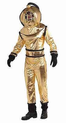 Other Theatrical Clothing 163149: Deep Sea Diver Jumpsuit Costume W Helmet Adult Standard -> BUY IT NOW ONLY: $33.99 on eBay!