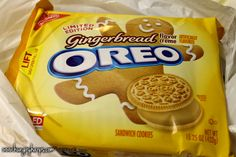 Gingerbread Oreos - these are sooo delicious!